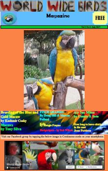 World Wide Birds magazine cover for July 2017